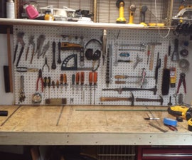 Workbench in closet