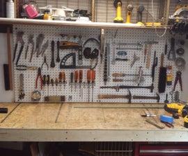 Workbench in closet