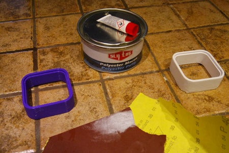 TiwlaTiny Body Prepare Parts Surface Using Polyester Putty and Emery. Acrylic Spray Paint for Finishing.