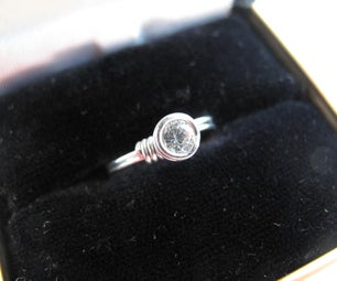 Wire Wrapped Solitaire Ring