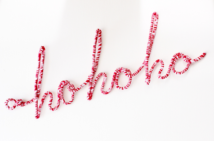 Picture of Holiday DIY: Typographic Wire Ornaments