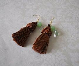 Tassel earrings with a twist