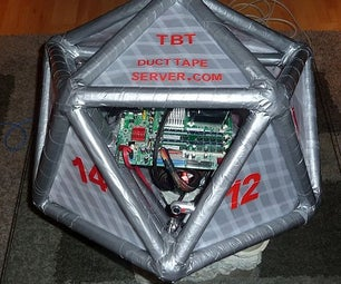 Duct Tape 20 Sided Computer Server