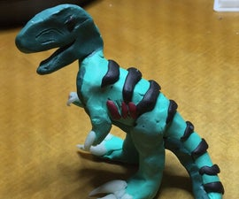 Simple Clay T-Rex