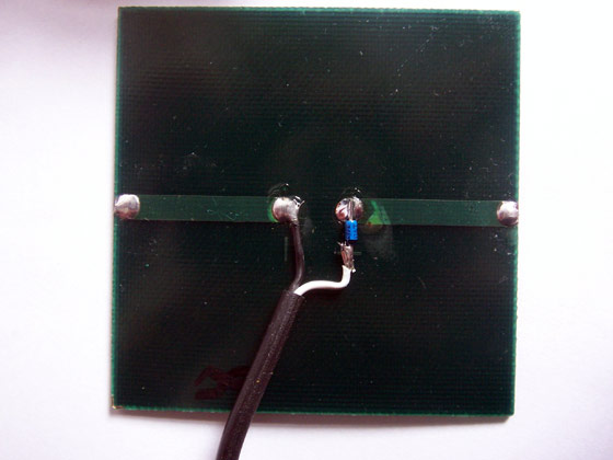Picture of Solar Panel and Blocking Diode