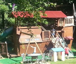 Pirate ship Playhouse / Treehouse / Fort / Swingset / In trouble with wife