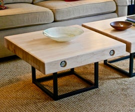 Modern Maple and Steel Coffee Table | How to Build