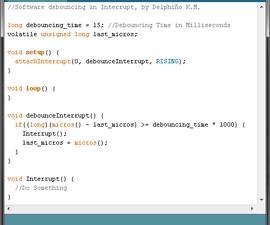 Arduino: Software Debouncing in Interrupt Function...