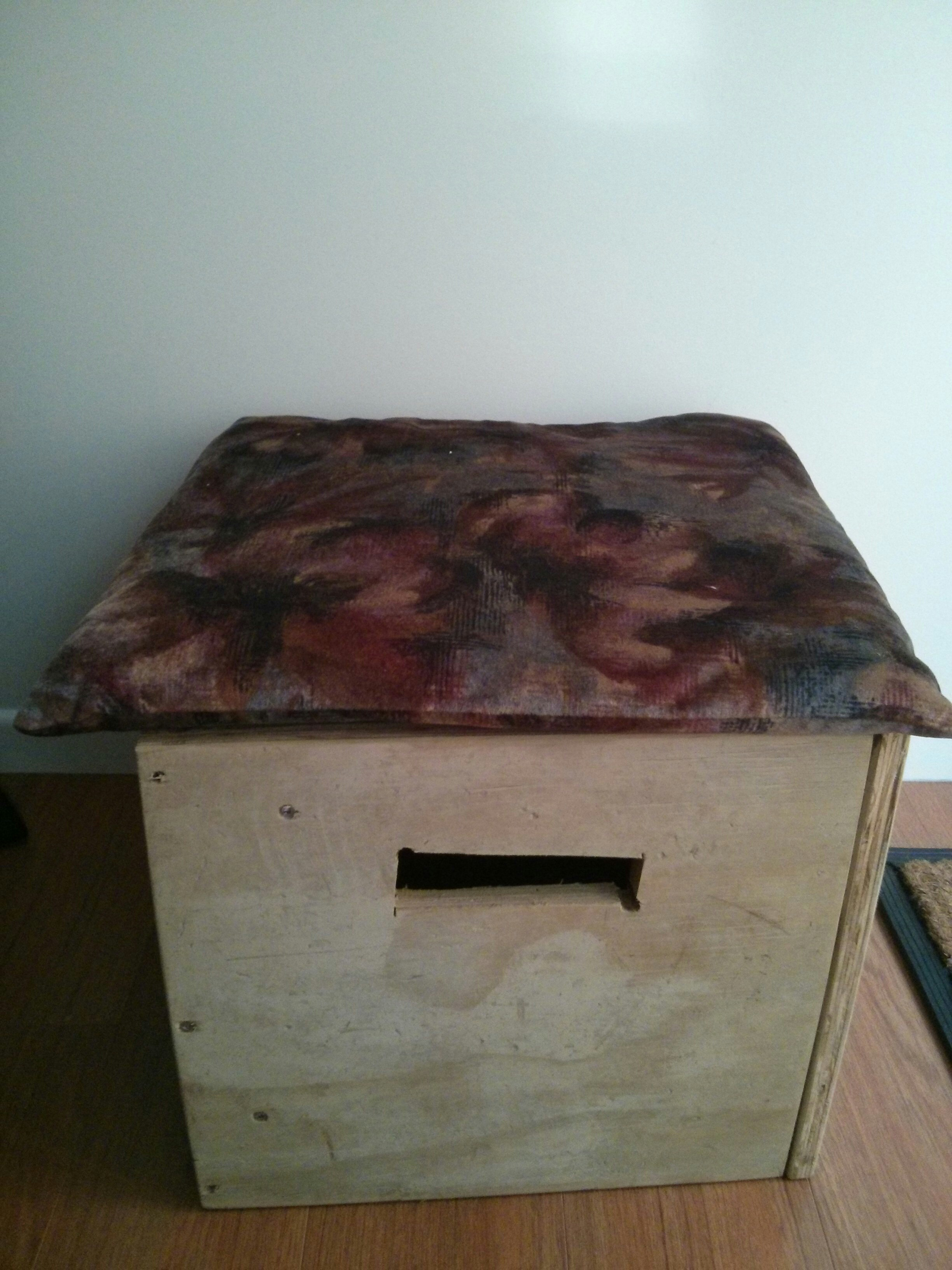 Picture of Multi-purpose Stool (with Storage) From Recycled Wood