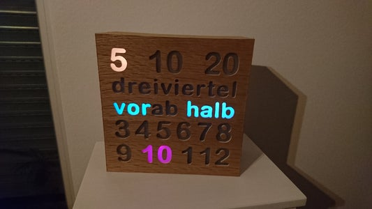 Word and Figure LED Clock