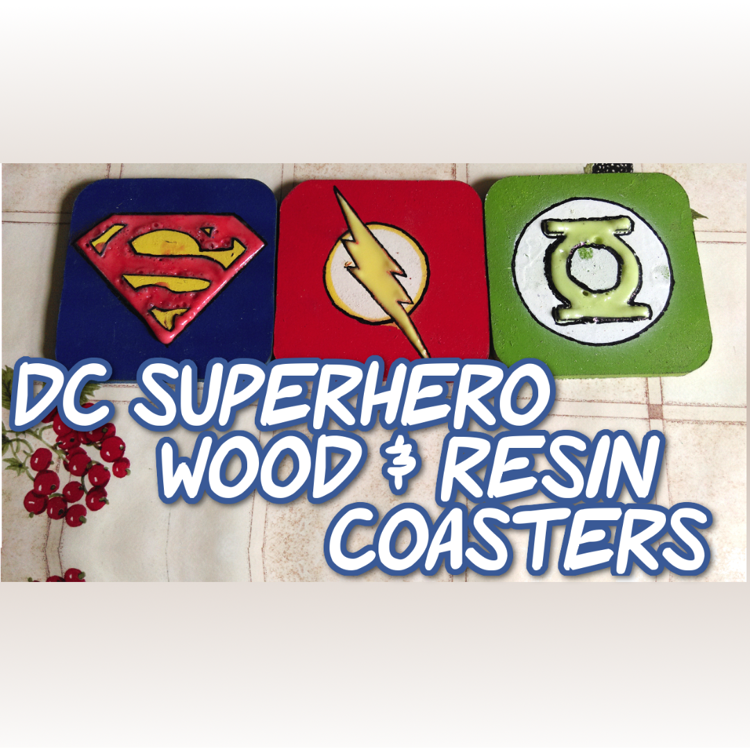 Picture of DC Superhero Wood & Resin Coasters