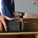 Bandsaw Jig to Cut Log Slices - Laser Engraved Logo