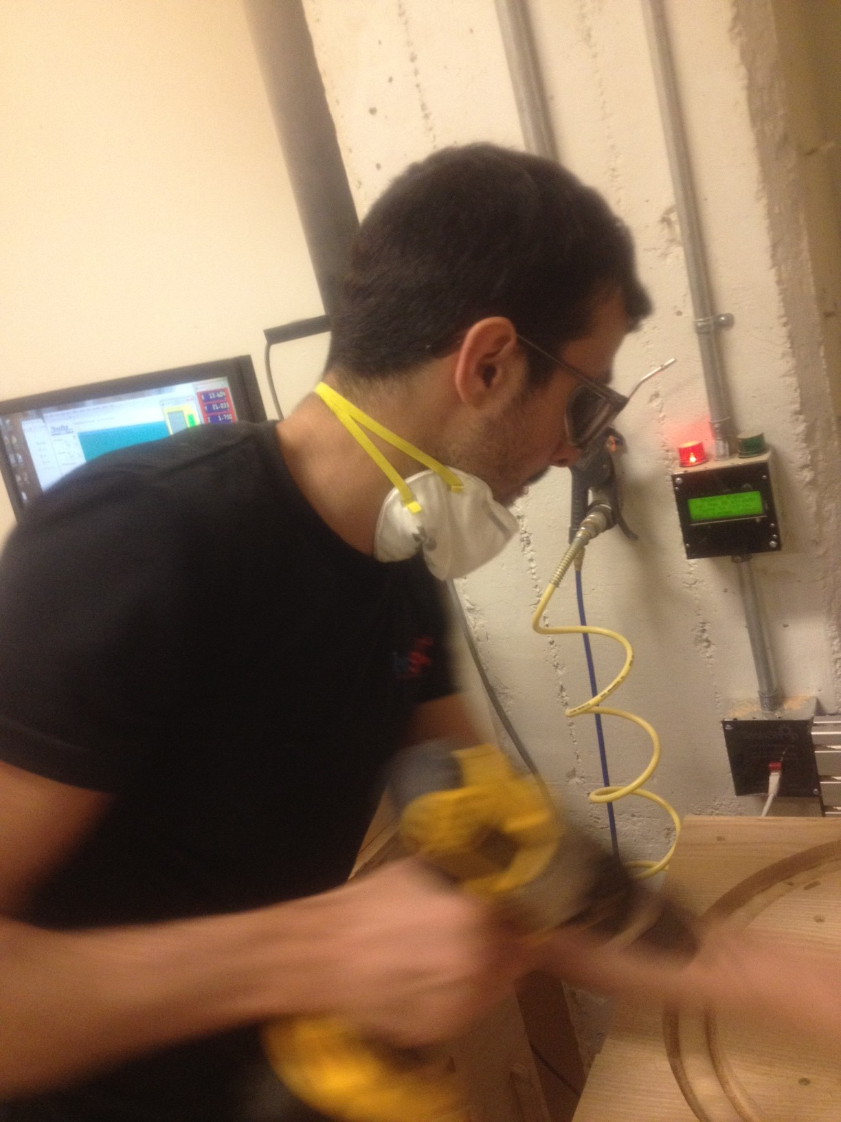 Picture of Danny Garcia at the Controls of the Shop Bot Table Cnc Table Router