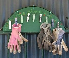 Garden glove rack
