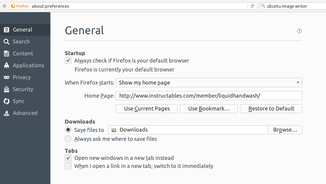 Picture of Starting Firefox Automatically  and on Your Website