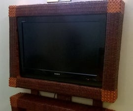 Recycled Newspaper Tubes TV Cabinet