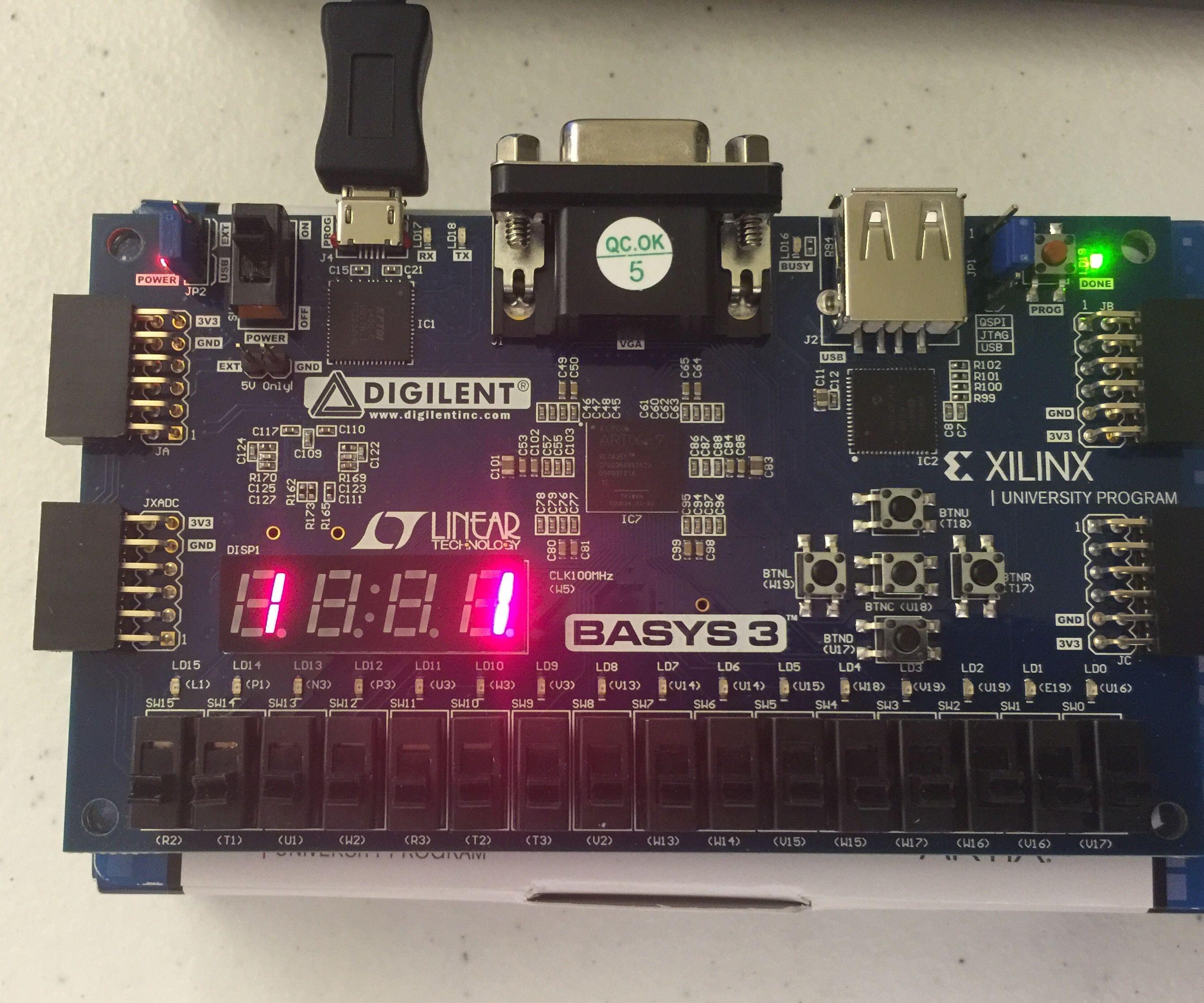 Sequence Detector Using Digilent Basys 3 FPGA Board: 10 Steps