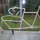 cardboard mockup of cargo-racebike