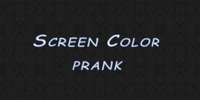 Picture of Screen Color Prank