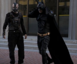The Dark Knight Batsuit and Bane Mask and Costume