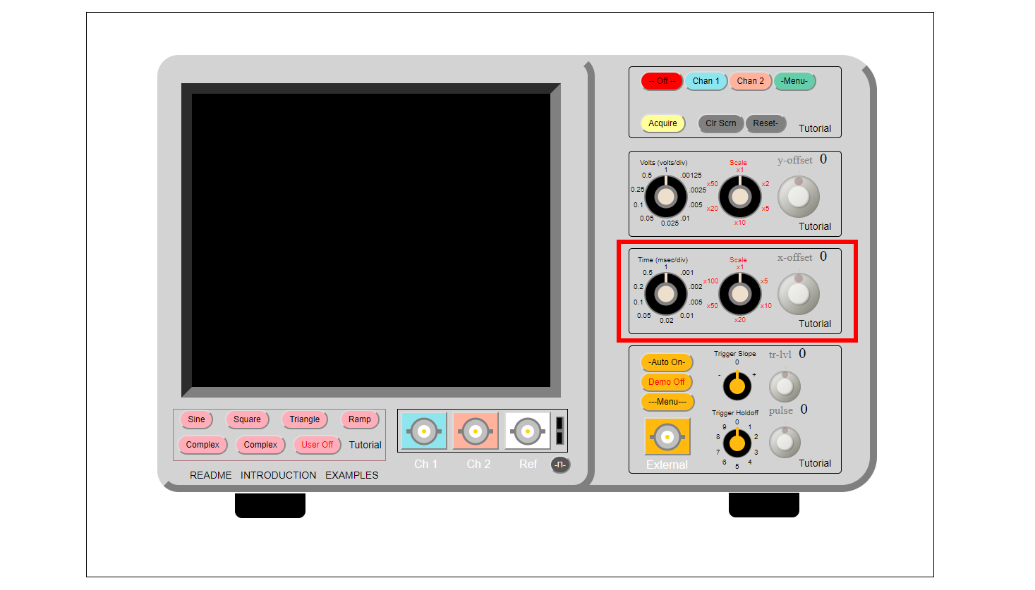 Picture of Horizontal Controls