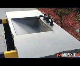 DIY Concrete Sink
