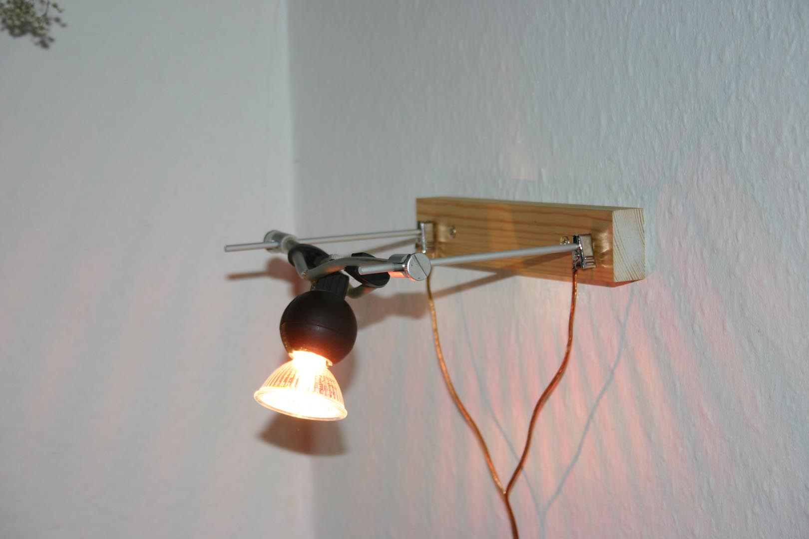 Picture of Convert Low Voltage Wire System Lights to Wall Mounted Lights