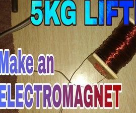 POWERFUL ELECTROMAGNET (5KG LIFTING)