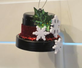 FROSTY'S TOP HAT ORNAMENT from a recycled laundry cap