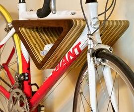 DIY Floating Wall-Mounted Bike Rack (Free Template!)