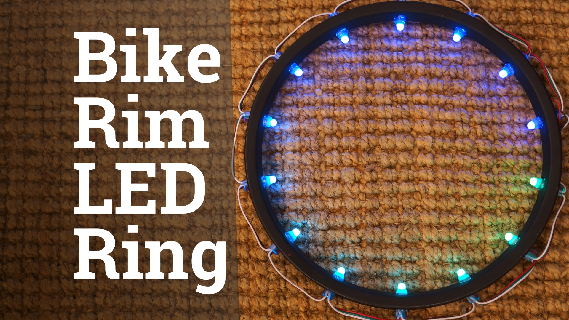 Picture of LED Ring From Recycled Bike Rim
