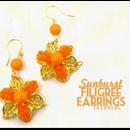 Sunburst Filigree Earring