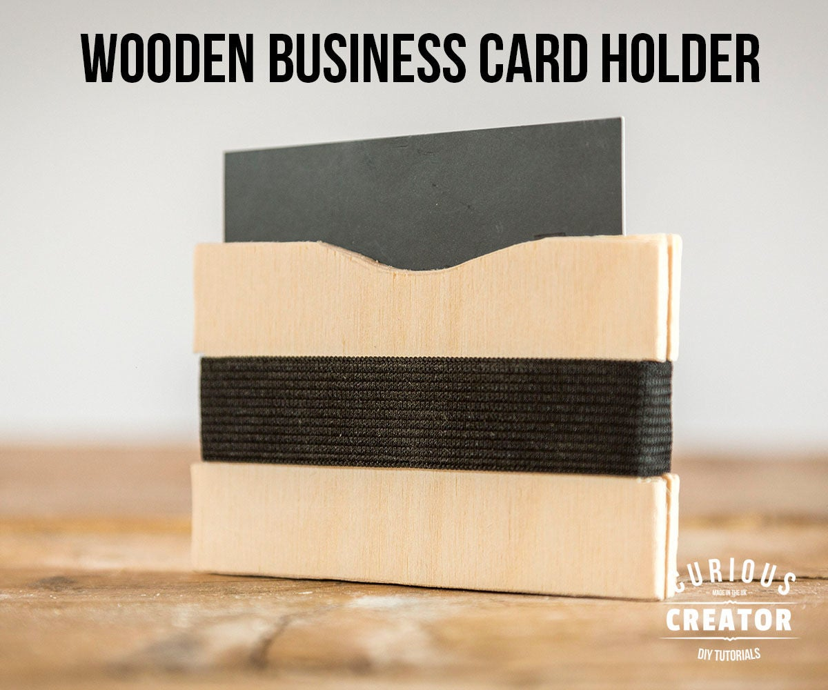 Wood business card holder wallet 4 steps with pictures reheart Gallery