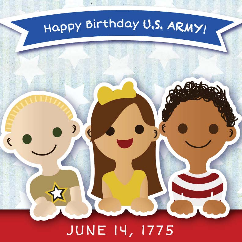Picture of Do It Yourself 'Happy Birthday U.S. Army!' Sticker Activity