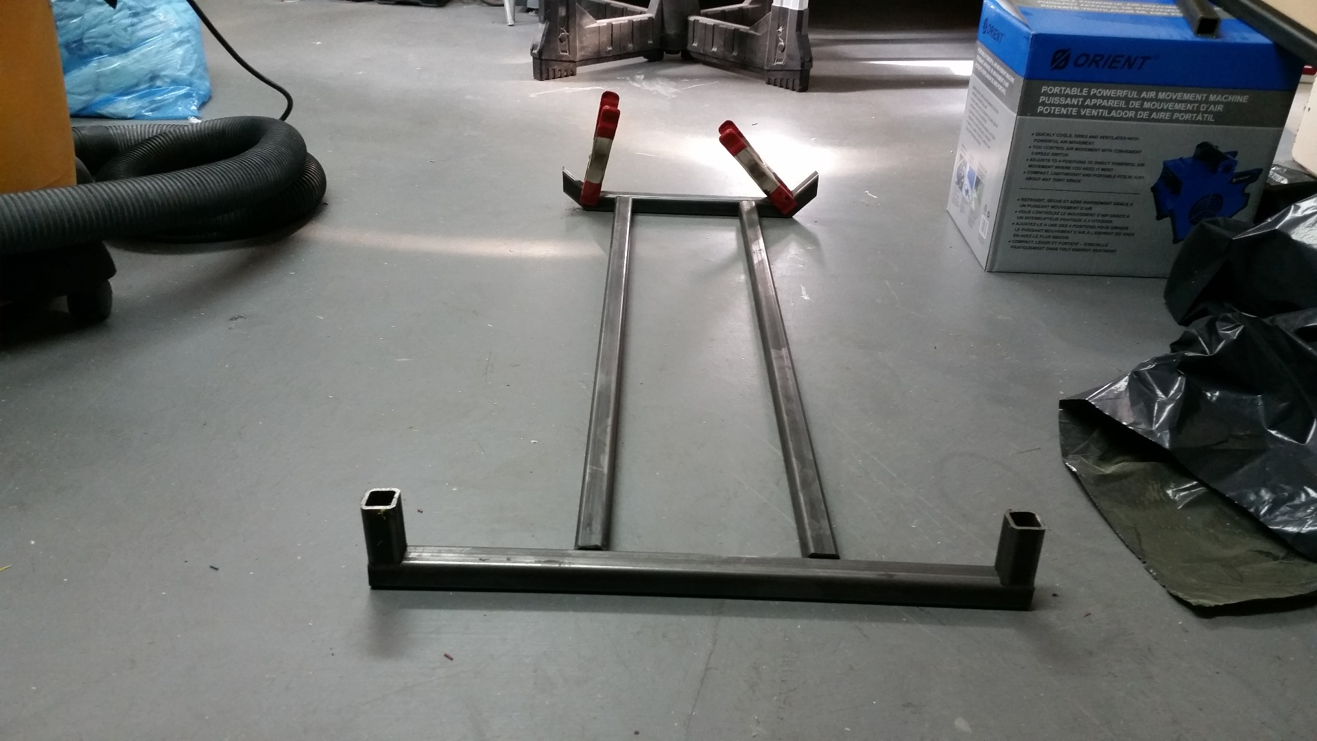 Picture of Cut Steel for the Frame