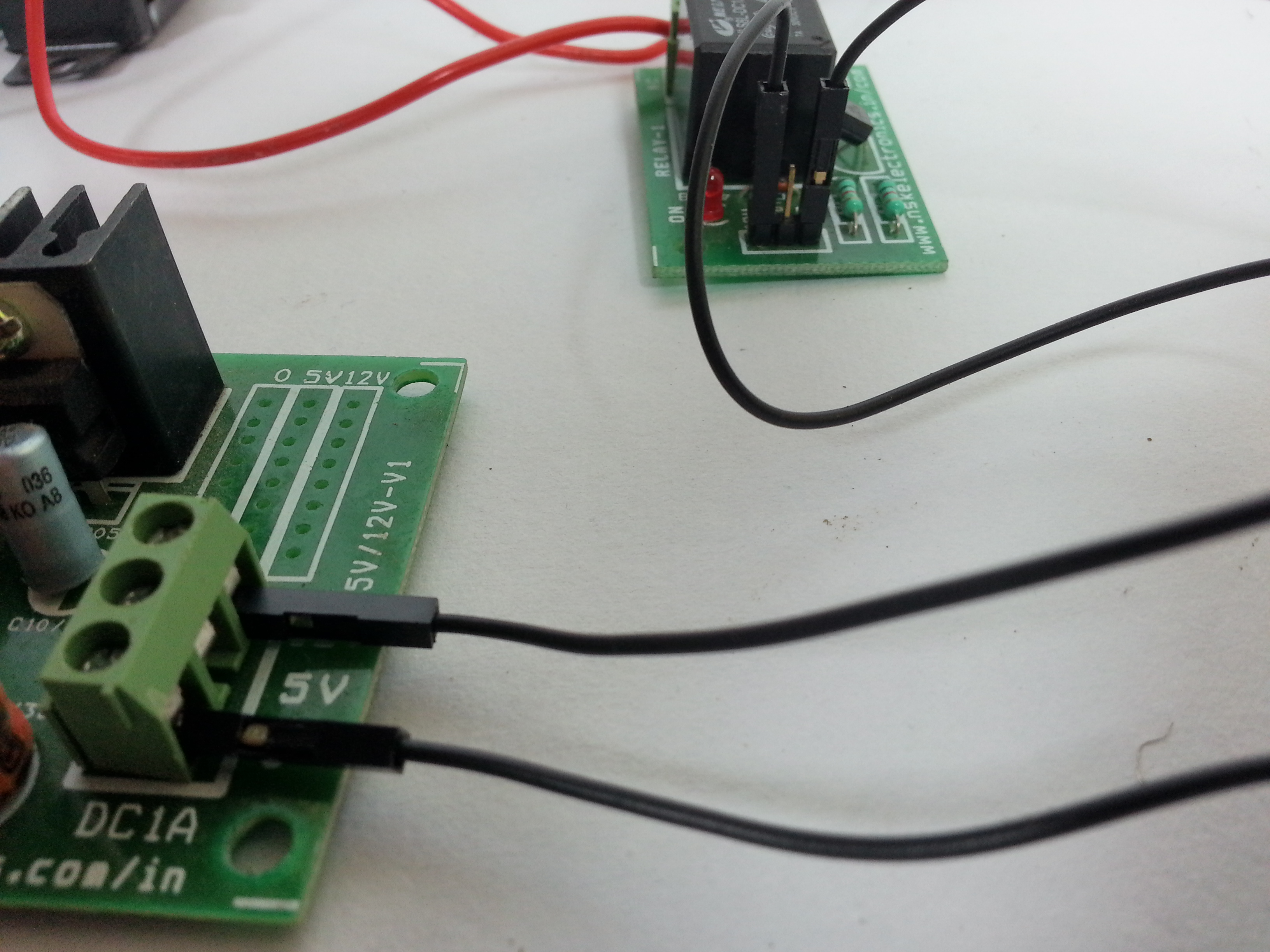 Picture of ​Connect the Output From the Power Supply Board ...