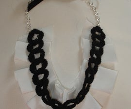 Ruffle necklace