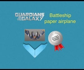 Guardians of the Galaxy Battleship Paper Airplane