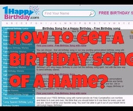 How to Get a Birthday Song of Your Name?