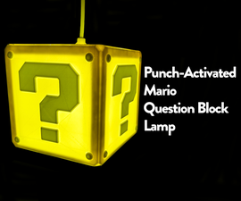 Punch Activated Mario Question Block Lamp