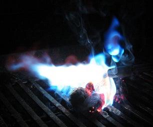 Blue Flaming Pinecones