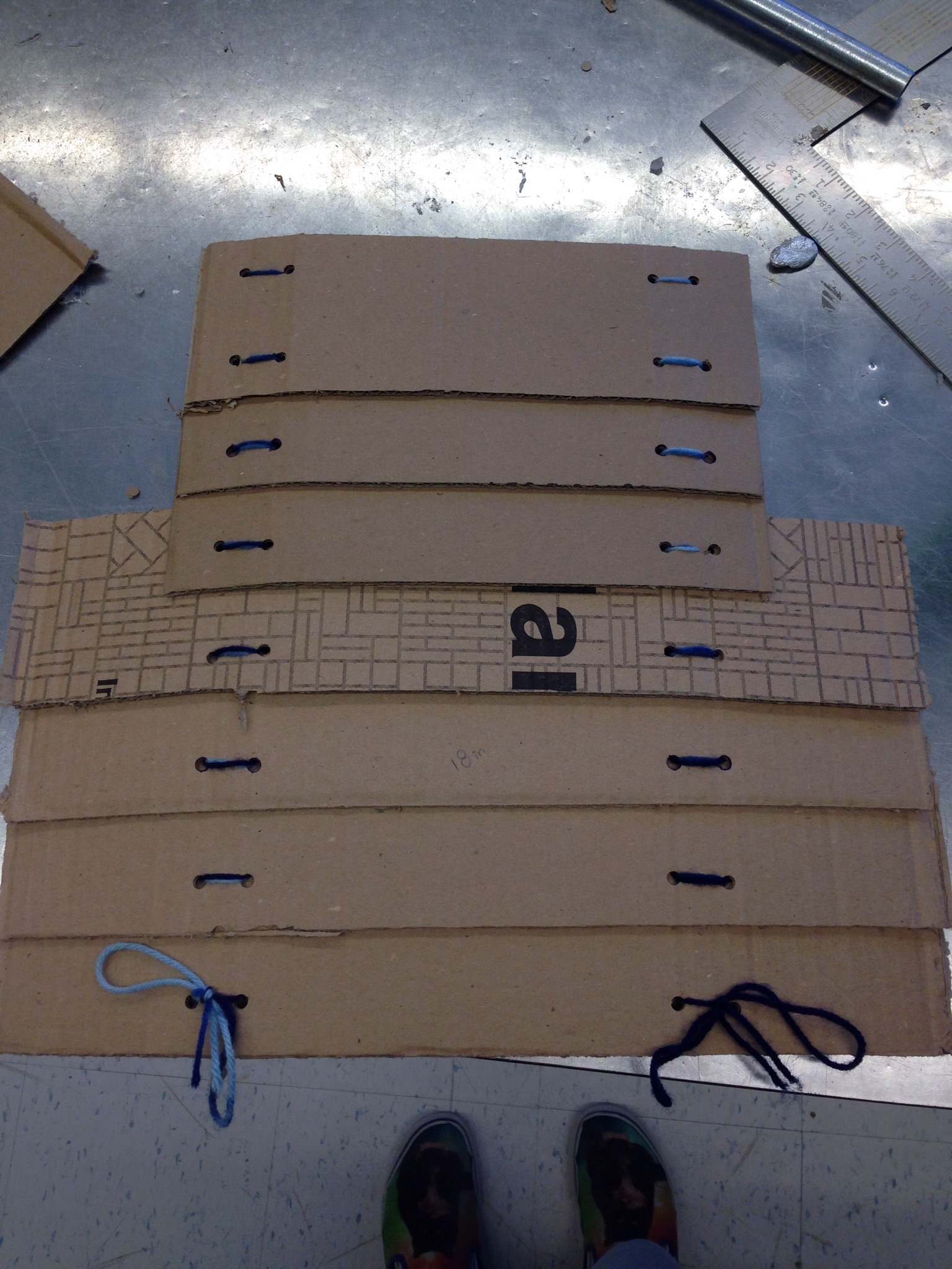 Picture of Stringing the Panels Together