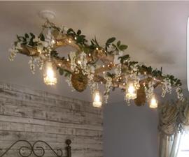 White Birch: Creative Hanging Light Fixture