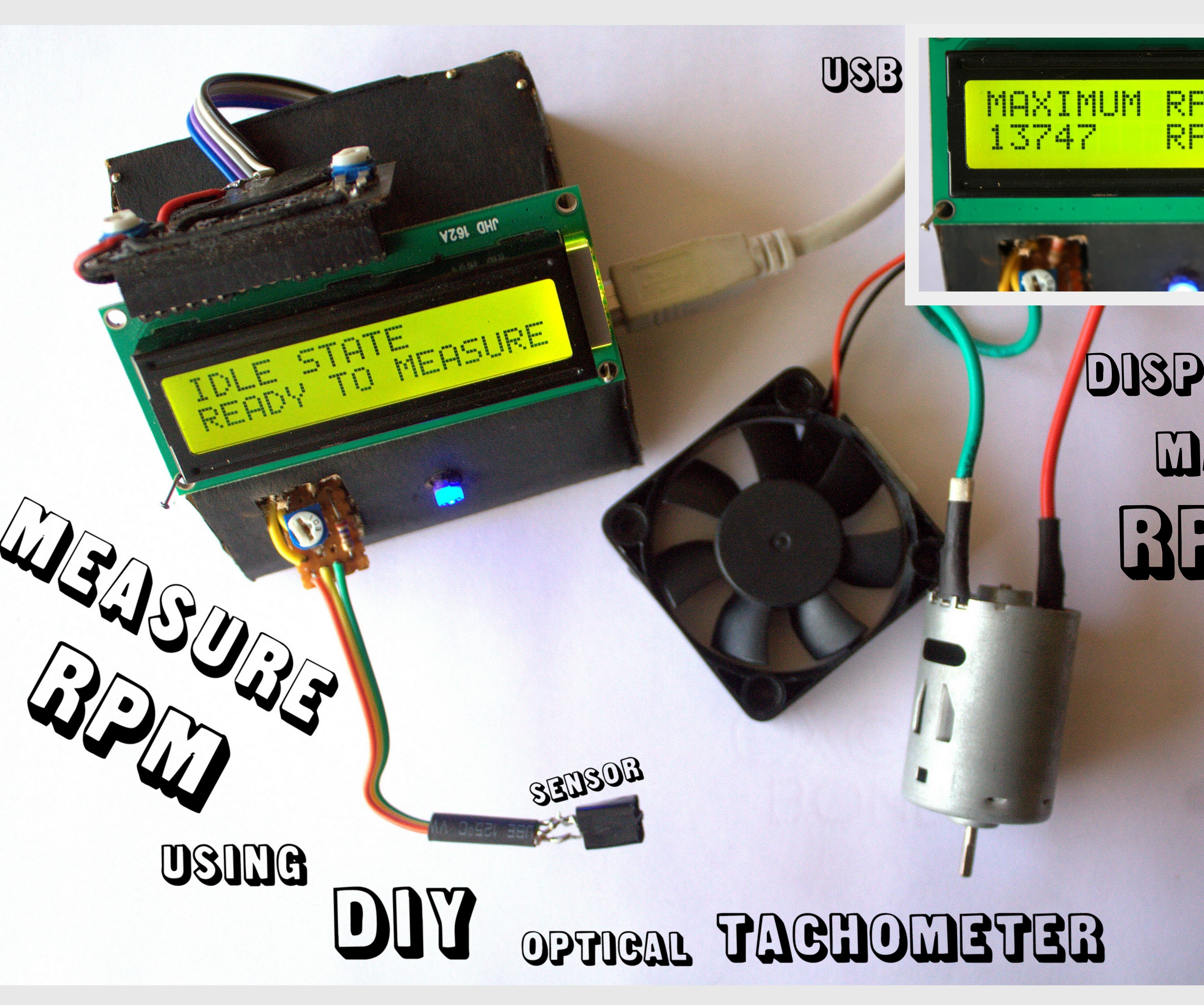 Electronic tachometer: principle of operation and scope