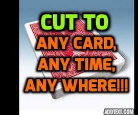 How to Do Cool Card Trick Called Cut #magictutorials