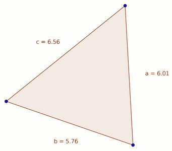 Heron's Formula - Calculating the Area of a Single Triangle.