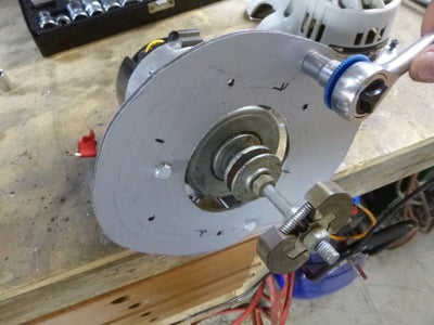 Marking the Motor Mounting Holes and Fitting the Motor