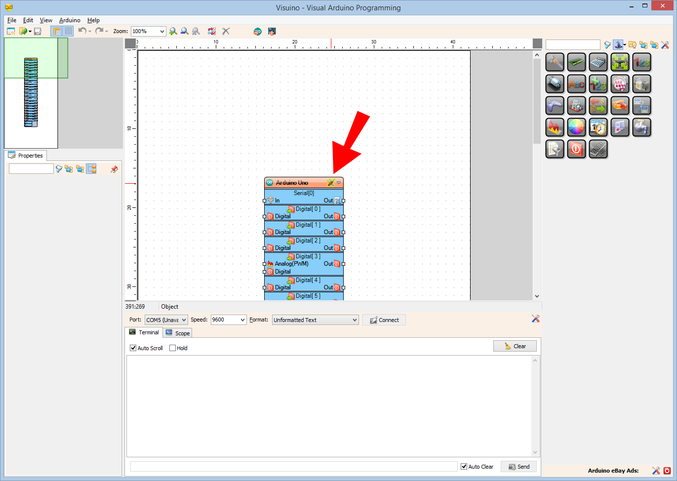 Picture of Start Visuino, and Select the Arduino Board Type