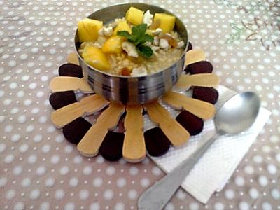 Raw Yellow Lentil (moong) Porridge for Breakfast