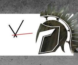 Clock With Steel Helmet Logo